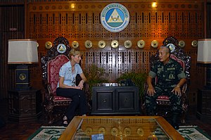 AFP Western Mindanao Command - U.S. Ambassador for the Republic of the Philippines, Kristie A. Kenney, meets with Western Mindanao Command Chief Major General Nelson Allaga