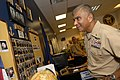 US Navy 081009-N-9818V-130 Master Chief Petty Officer of the Navy (MCPON) Joe R. Campa Jr. speaks with Navy Recruiters.jpg
