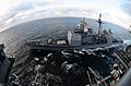 US Navy 100829-N-7488A-204 USS Carl Vinson (CVN 70) conducts a replenishment at sea with USS Bunker Hill (CG 52).jpg