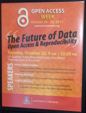 Open Access Week - Image: U Arizona Open Access Week October 25, 2011