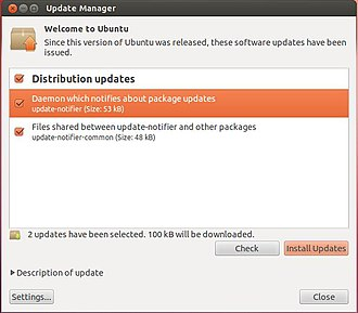 Software Updater - Image: Ubuntu 12.04 update manager