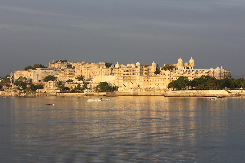 Sunset Terrace of the Fateh Prakash Palace in Udaipur
