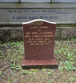 John Cameron, Lord Cameron - Ullapool, Mill Street Old Burial Ground: Grave of Lord Cameron KT DSC
