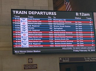 Union Station (New Haven) - The newly renovated board.