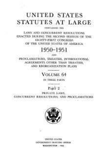 United States Statutes at Large Volume 64 Part 2.djvu