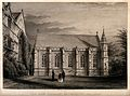 University College, Oxford; the library. Line engraving by J Wellcome V0014178.jpg