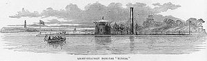 "Engraving of USS Tunxis published in""The Soldier in Our Civil War"""