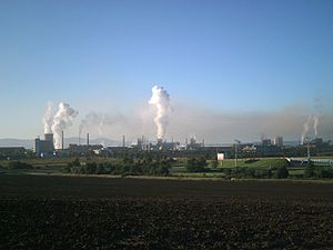 Heavy industry - U. S. Steel Košice (in Slovakia) – a typical example of a heavy industry factory.