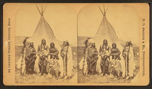 Ute chiefs, by Jackson, William Henry, 1843-1942