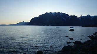 Uummannaq Fjord - Northeastern Uummannaq Fjord is bounded by steep mountain walls, some nearly 2000 metres high