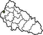 Ужгород на карте области
