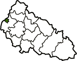 Map of Zakarpattia Oblast with Uzhhorod.