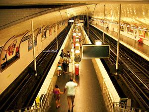 Paris Métro Line 7 - Paris metro station Porte d'Ivry.