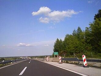 A1 (Croatia) - Approach to Drežnik Viaduct