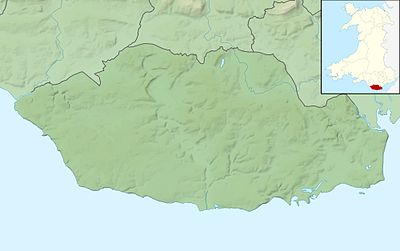 Location map Wales Vale of Glamorgan
