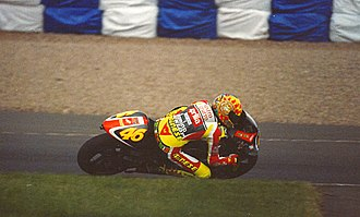 1999 Grand Prix motorcycle racing season - Valentino Rossi (pictured at Donington Park) became the 1999 250cc world champion