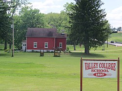 This old schoolhouse is on Route 226