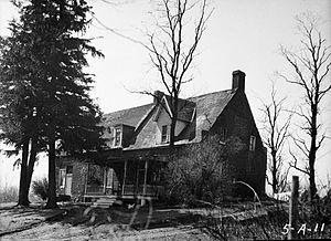 Van Alen House - HABS image of Van Alen showing west profile