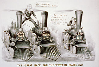 Cornelius Vanderbilt - Cornelius Vanderbilt versus James Fisk, Jr. in a famous rivalry with the Erie Railroad