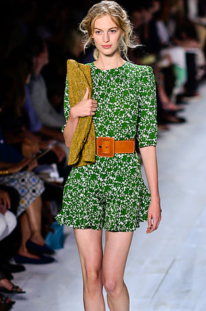 Vanessa Axente - Axente at the Michael Kors Spring/Summer 2014 fashion show on 11 September 2013 at New York Fashion Week. Photo by Christopher Macsurak.