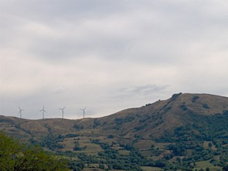 Wind power in Italy - Image: Varese Ligure Pale eoliche