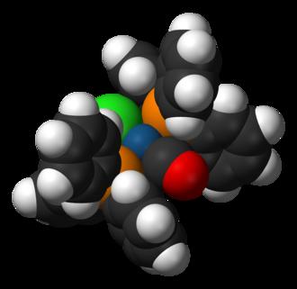 Vaska's complex - Image: Vaska's complex 3D vd W