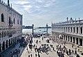 Venezia Basilica di San Marco Terrasse Blick auf die Piazzetta San Marco 2.jpg
