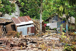2013 Solomon Islands earthquake - Tsunami damage in Venga village