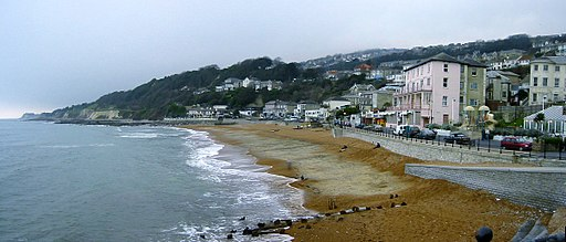 Ventnor Beach Panorama Isle of Wight England