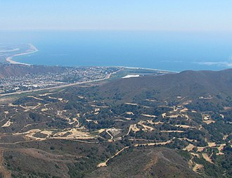 Ventura Oil Field - Ventura Oil Field, from the north-northwest, showing the city of Ventura in the distance.