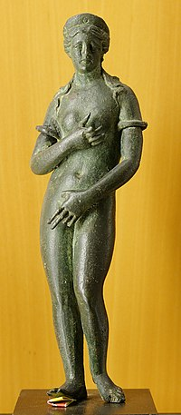 Venus, Ancient Roman bronze figurine.