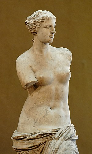 Art history - Venus de Milo on display at the Louvre.
