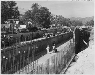 Verdugo Wash - Channelization work, 1936