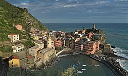Vernazza seen from the Azure Trail.