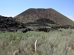 Holocene volcano on State Highway 18 near Veyo, Utah