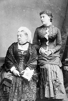 Queen Victoria with her daughter Princess Beatrice, photo by Alexander Bassano