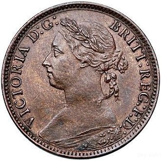 Farthing (British coin) - Image: Victoria farthing