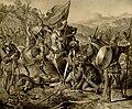 Victory of King Milutin over the Tatars, Anastas Jovanović (1853).jpg