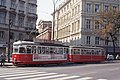 Vienna tram type L on line D on the Kaerntner Ring 1976.jpg