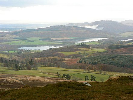 The Loch of Butterstone as seen from Benachally Monument View from Benachally Monument - geograph.org.uk - 613391.jpg