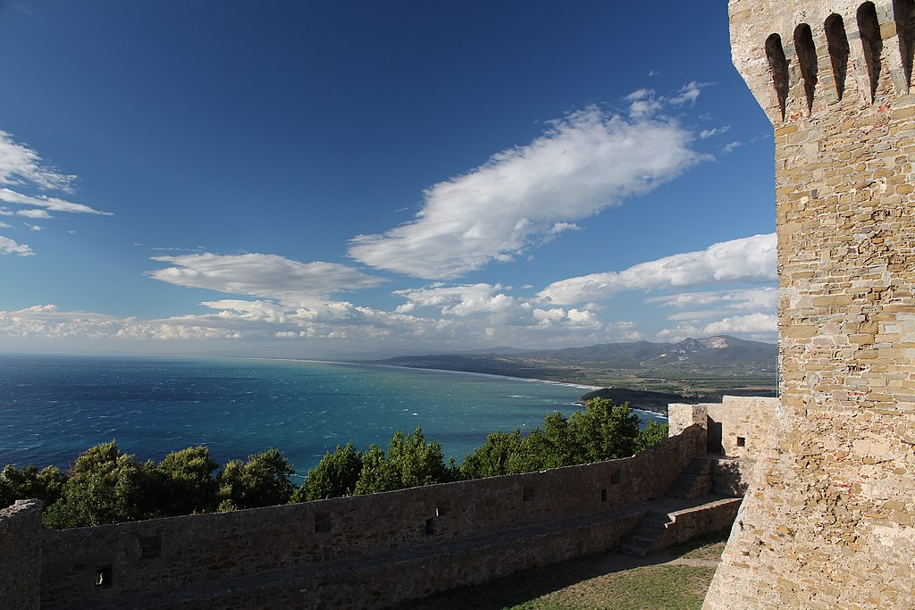 View on the Gulf of Baratti from Populonia Tower