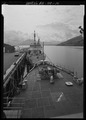 View from flying bridge looking down at bow - USS SHACKLE, ARS 9, Ketchikan, Ketchikan Gateway Borough, AK HAER AK-49-10.tif