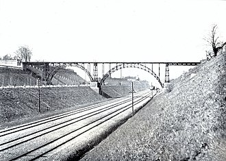 Vigerslev Allé - Vigerslev Allé and the Carlsberg Viaduct in 1910