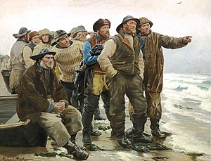 Michael Ancher - Vil han klare pynten (Will he round the point?, detail, 1879)
