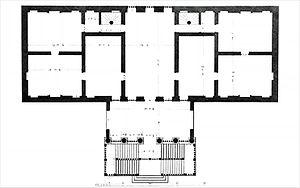Villa Piovene - Floor plan (drawing by Ottavio Bertotti Scamozzi, 1778)