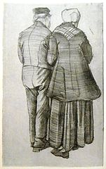 Old couple, seen from the rear