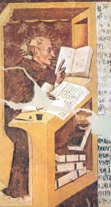 Fresco of Friar Vincent of Beauvais, author of The Great Mirror