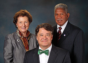 Virginia Department of Alcoholic Beverage Control - The Virginia ABC Board, from left, Commissioner Judy Napier, Chairman Jeffrey Painter and Commissioner Henry Marsh III.