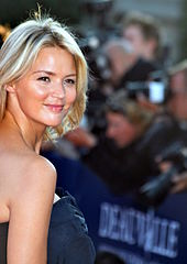 Virginie Efira poses for the camera