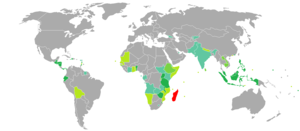 Visa requirements for Malagasy citizens - Image: Visa requirements for Malagasy citizens